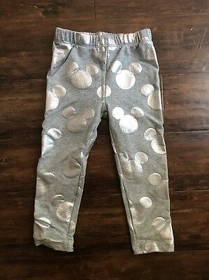 Disney Baby Gap Mickey Mouse Grey & Silver Girls Pants Size 3T