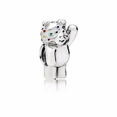 Authentic PANDORA 2017 Limited Edition BBC charity Pudsey Bear Charm 796255ENMX