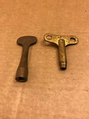 Vintage 'The Wigan' Winding Key, & One Other Clock Winding Key