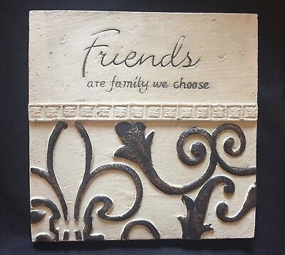 Decorative Tile - Friends Are Family We Choose - Home Decor Wall Hanging Art