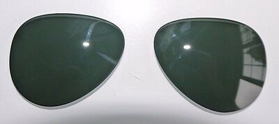 PERSOL 2424 size 59 AVIATOR REPLACEMENT GREEN TEMPERED GLASS LENSES