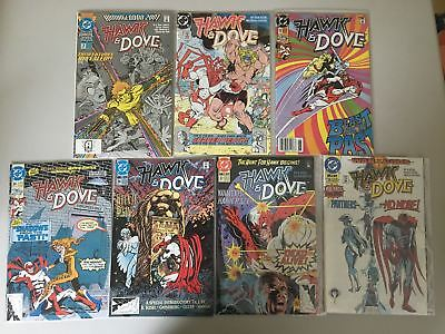 Lot of 7 Hawk and Dove (1989 3rd Series) #5 13 24 26-28 Annual 2 VF Very Fine