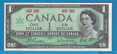 1867/1967 Spécial Commemorative Sérial Number1$ Bank Note Of Canada  UNC.BC-45a
