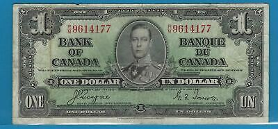 1937 1$ Bank Note Of Canada Coyne/Towers   R/M9614177  Circ BC-21d