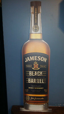 "40"" tall jameson  black barrel irish Whiskey Sign Bottle  Liquor display"