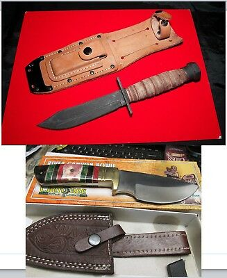 US Air Force Jet Pilot Survival Knife and Sheath Ontario 3-11 Free Shipping