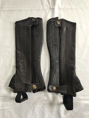 Millstone Kids Brown Leather Riding Half Chaps, NWOT!