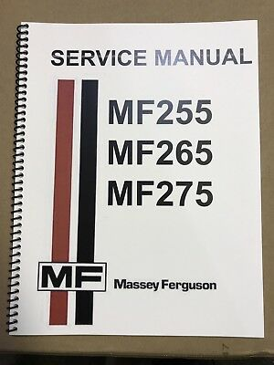 255 Massey Ferguson Tractor Technical Service Shop Repair Manual MF255