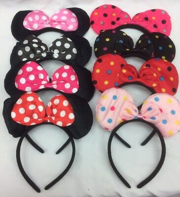 Job Lot Wholesale 100pcs Mini Mouse Hair Band, Hair Accessories For Kids, Girls