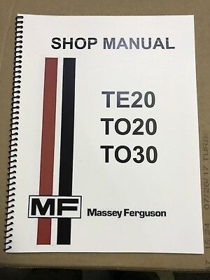 TO20 Ferguson Tractor Technical Service Shop Repair Manual Massey TO 20