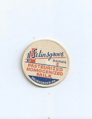 """Selinsgrove Dairies""   Selinsgrove, Pa.  milk bottle cap."
