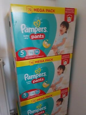 Mega Pack 72 Couches Pampers Pants Baby Dry Taille 5