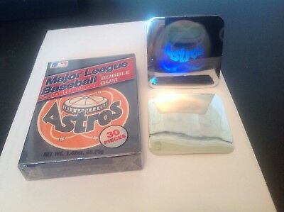 Houston Astros 1990 Baseball Bubble Gum Box, Amurol & 1990 Ud Astros Holograms