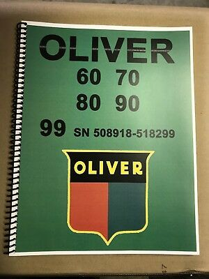 60 Oliver Tractor Technical Service Shop Repair Manual Model 60