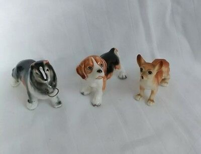 Vintage Dog Figurines Collie, Beagle and Chihuahua Lot of 3