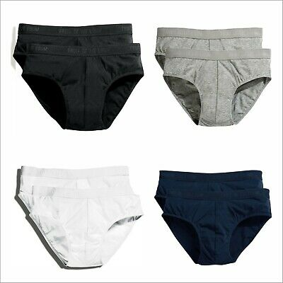 Fruit of the Loom Mens Classic Sports 2 PACK Briefs Athletic Underwear Underpant