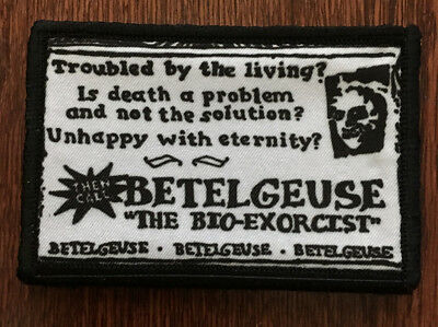 BeetleJuice Business Card Morale Patch Tactical Military Army Badge Flag