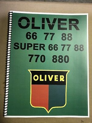 77 Oliver Tractor Technical Service Shop Repair Manual Model 77