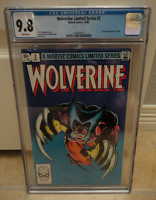 Wolverine Limited Series #2 (10/82) - CGC 9.8 White Pages - New Case!