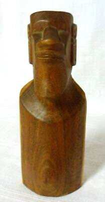 Hand Carved Wood Carving Easter Island Rapa Nui Moai Figurine