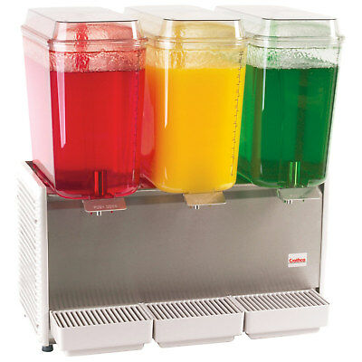 NEW Grindmaster Crathco D35-4 Triple 5 Gal Bowl Refrigerated Beverage Dispenser