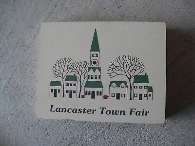 1992 Cats Meow Lancaster Town Fair Building Numbered /300
