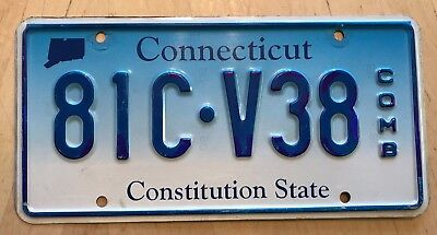 """Connecticut Combination  Auto License Plate  """" 81C V38 """" Ct  Constitution State"""