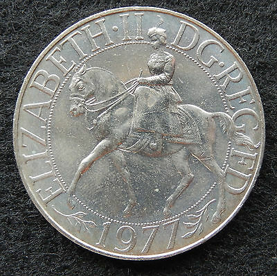 """1977 UK Great Britain 25 New Pence """"Silver Jubilee of Reign"""" KM#920 SB3378"""