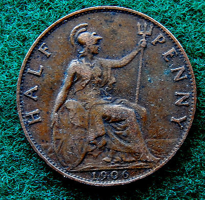 1906 UK Great Britain Half Penny Coin SB3784