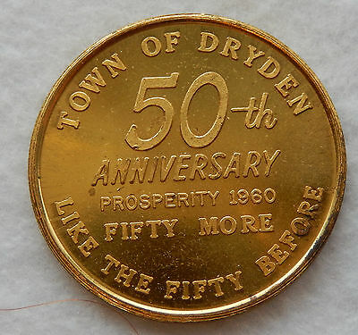 1960 Town of Dryden 50th Anniversary 50 Cent Trade Token Coin SB3597