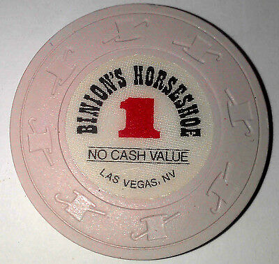 Binion's Horseshoe Casino Obsolete $1 WSOP Top Hat and Cane Mold Poker Chip