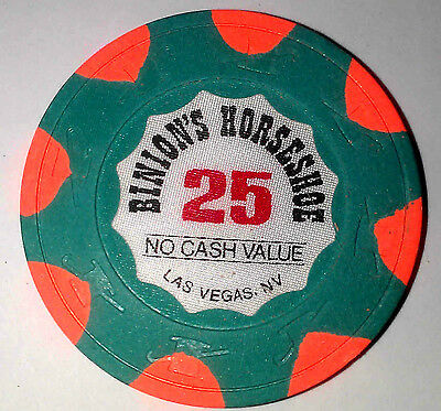 Binion's Horseshoe Casino Obsolete $25 WSOP Top Hat and Cane Mold Poker Chip