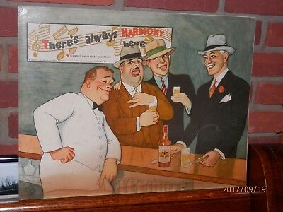 1940's Vintage Carstairs Harmony Whiskey Advertising Poster By Massaguer