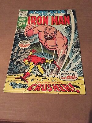 Early Bronze Age Marvel Comic- King-Size Special Iron Man #2 1971 Stan Lee