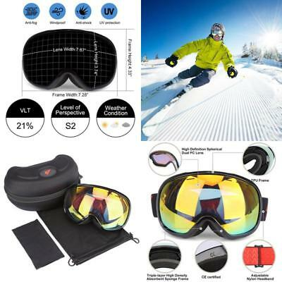 Ski Goggles For Men Women With OTG Double Lens Anti Fog Big Spherical By G4Free