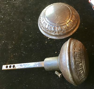 "(2) Two VTG ANTIQUE ""EGG & DART"" VICTORIAN DOOR KNOB DoorKnobs HANDLE Pull"