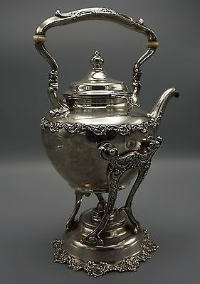 Gorham Sterling Silver Tea Pot With Warming Stand Circa 1899