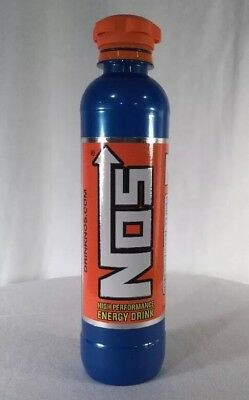 NOS Energy Drink 11oz Empty Bottle 1 Single Discontinued Bottle Collectable