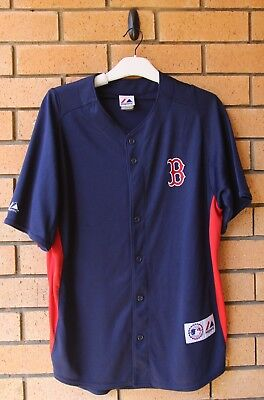 Boston Red Sox Mlb Jersey Majestic Athletic Large/xl Rare!