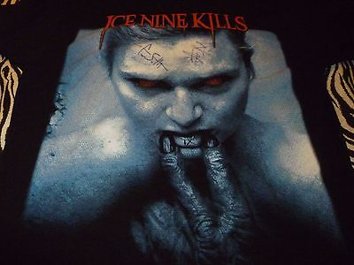 Ice Nine Kills AUTOGRAPHED Shirt ( Used Size L Missing Tag ) Very Good Condition