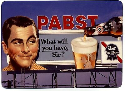 Pabst Blue Ribbon Beer - Billboard Advertising printed on METAL - PBR