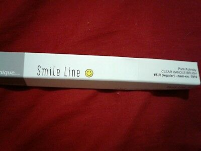 smile line pure kolinsky clear handle brush #8-big