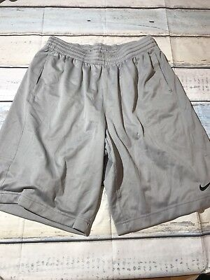 Nike Mens Dri Fit Athletic Training Basketball Shorts Size Large Gray