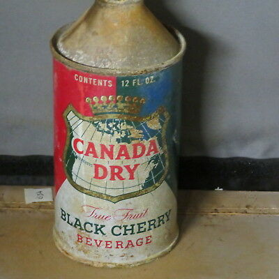 Canada  Dry  Black Cheery   Cone Top   Colorful  Solid   One