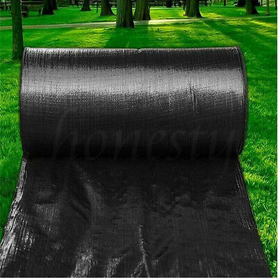 5/10/15M Membrane Landscape Weed Control Fabric Ground Cover Barrier Block Mat