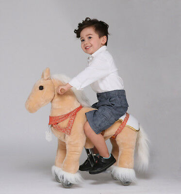 "UFREE Action Pony Ride on horse with braids 29"" Small Size, Present for Kid 3-5"