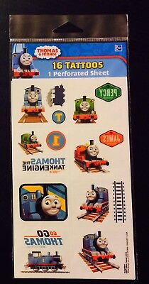 Brand New THOMAS The Tank Engine 16 Pack Tattoos Birthday Party Favours