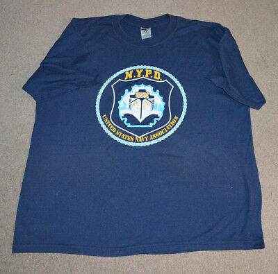 NYPD US Navy Association Shirt NYC NY Police Dept XL