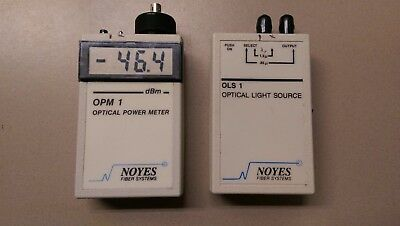 Noyes Fiber Optic Tester OPM 1 and OLS 1  OPTICAL POWER METER OPTICAL SOURCE