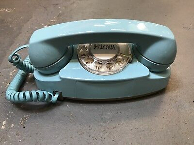 Vintage Blue Western Electronics Bell System Princess Rotary Phone